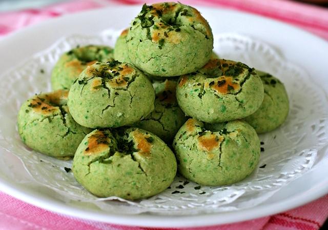 Cookies de Petits pois avec de l'Aonori